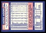 1984 Topps Traded #81  Jackie Moore  Back Thumbnail