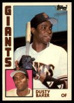 1984 Topps Traded #5  Dusty Baker  Front Thumbnail