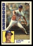 1984 Topps Traded #32  Carlos Diaz  Front Thumbnail