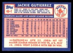 1984 Topps Traded #46  Jackie Gutierrez  Back Thumbnail