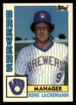 1984 Topps Traded #67  Rene Lachemann  Front Thumbnail