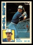 1984 Topps Traded #71  Rick Leach  Front Thumbnail