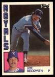 1984 Topps Traded #9  Joe Beckwith  Front Thumbnail