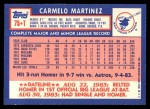 1984 Topps Traded #75  Carmelo Martinez  Back Thumbnail
