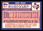 1984 Topps Traded #131  Ned Yost  Back Thumbnail