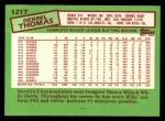 1985 Topps Traded #121 T Derrel Thomas  Back Thumbnail