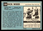 1964 Topps #130  Dick Wood  Back Thumbnail