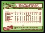 1985 Topps Traded #52 T Joe Hesketh  Back Thumbnail