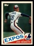 1985 Topps Traded #52 T Joe Hesketh  Front Thumbnail