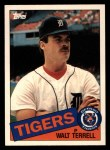 1985 Topps Traded #119 T Walt Terrell  Front Thumbnail
