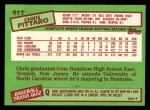 1985 Topps Traded #91 T Chris Pittaro  Back Thumbnail