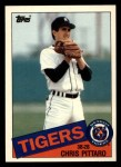 1985 Topps Traded #91 T Chris Pittaro  Front Thumbnail