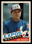1985 Topps Traded #95 T Bob Rodgers  Front Thumbnail