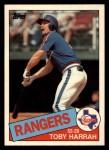 1985 Topps Traded #46 T Toby Harrah  Front Thumbnail
