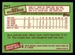 1985 Topps Traded #94 T Bert Roberge  Back Thumbnail