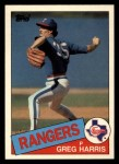 1985 Topps Traded #47 T Greg Harris  Front Thumbnail