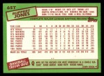 1985 Topps Traded #65 T Ruppert Jones  Back Thumbnail