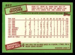 1985 Topps Traded #85 T Donnie Moore  Back Thumbnail
