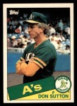 1985 Topps Traded #116 T Don Sutton  Front Thumbnail