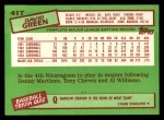 1985 Topps Traded #41 T David Green  Back Thumbnail