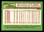 1985 Topps Traded #114 T Jim Sundberg  Back Thumbnail