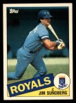 1985 Topps Traded #114 T Jim Sundberg  Front Thumbnail