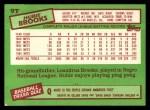 1985 Topps Traded #9 T Hubie Brooks  Back Thumbnail