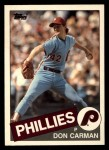 1985 Topps Traded #16 T Don Carman  Front Thumbnail