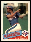 1985 Topps Traded #63 T Cliff Johnson  Front Thumbnail