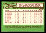 1985 Topps Traded #34 T Mike Fitzgerald  Back Thumbnail