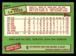 1985 Topps Traded #69 T Mike LaCoss  Back Thumbnail