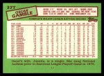 1985 Topps Traded #37 T Oscar Gamble  Back Thumbnail