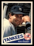 1985 Topps Traded #48 T Ron Hassey  Front Thumbnail