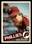 1985 Topps Traded #98 T Dave Rucker  Front Thumbnail