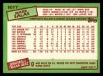 1985 Topps Traded #101 T Mark Salas  Back Thumbnail