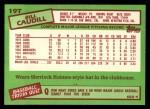 1985 Topps Traded #19 T Bill Caudill  Back Thumbnail