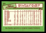 1985 Topps Traded #2 T Bill Almon  Back Thumbnail