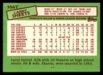 1985 Topps Traded #106 T Larry Sheets  Back Thumbnail