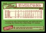 1985 Topps Traded #76 T Tim Lollar  Back Thumbnail