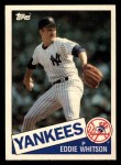 1985 Topps Traded #130 T Ed Whitson  Front Thumbnail