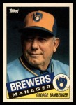 1985 Topps Traded #5 T George Bamberger  Front Thumbnail