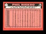 1986 Topps Traded #77 T Phil Niekro  Back Thumbnail