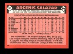 1986 Topps Traded #96 T Angel Salazar  Back Thumbnail