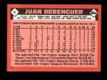 1986 Topps Traded #9 T Juan Berenguer  Back Thumbnail