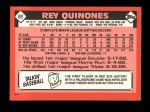 1986 Topps Traded #89 T Rey Quinones  Back Thumbnail