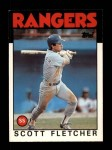 1986 Topps Traded #36 T Scott Fletcher  Front Thumbnail