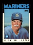 1986 Topps Traded #124 T Dick Williams  Front Thumbnail