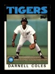 1986 Topps Traded #26 T Darnell Coles  Front Thumbnail