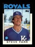 1986 Topps Traded #35 T Steve Farr  Front Thumbnail