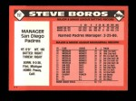 1986 Topps Traded #15 T Steve Boros  Back Thumbnail